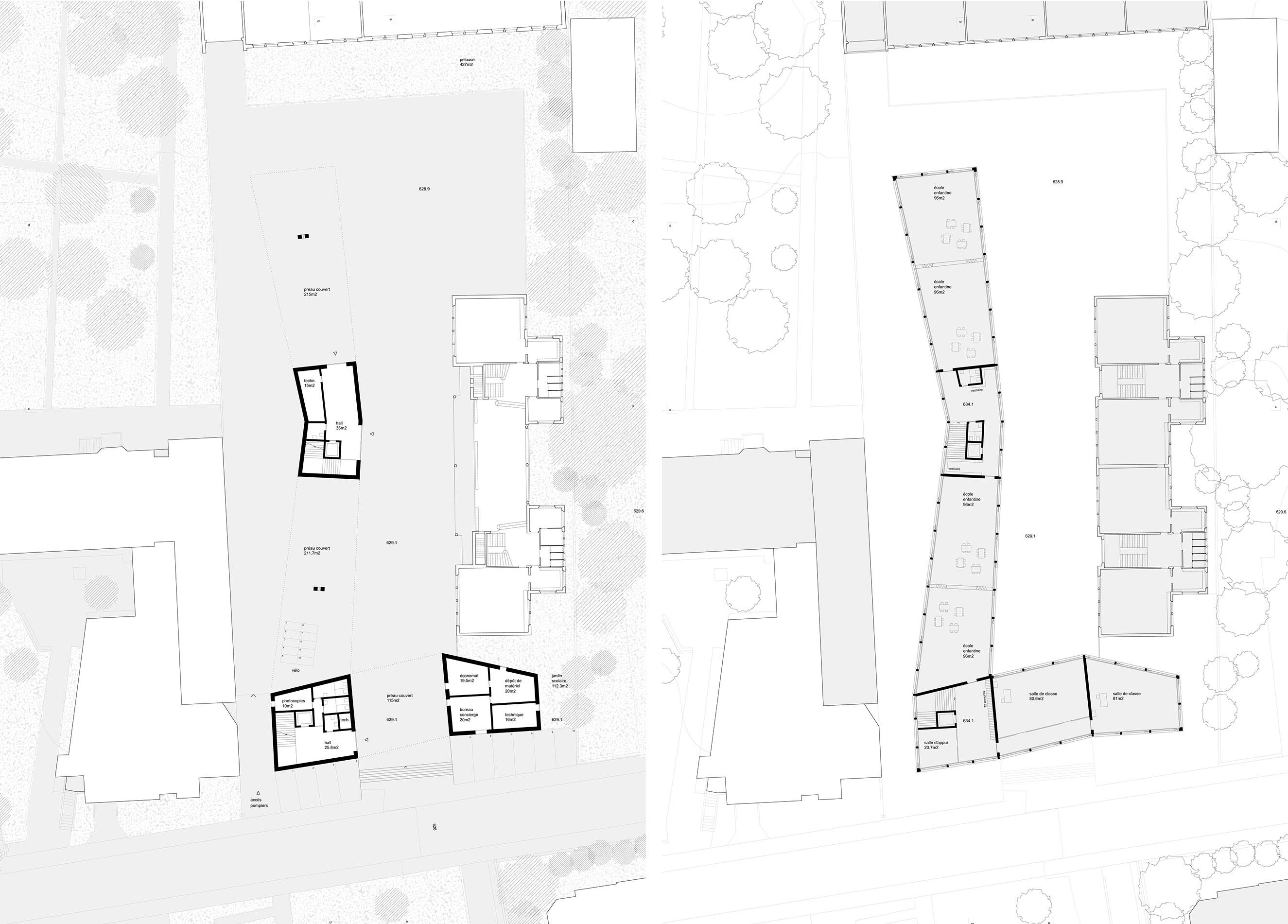 Grundrisse: Erdgeschoss / Obergeschoss