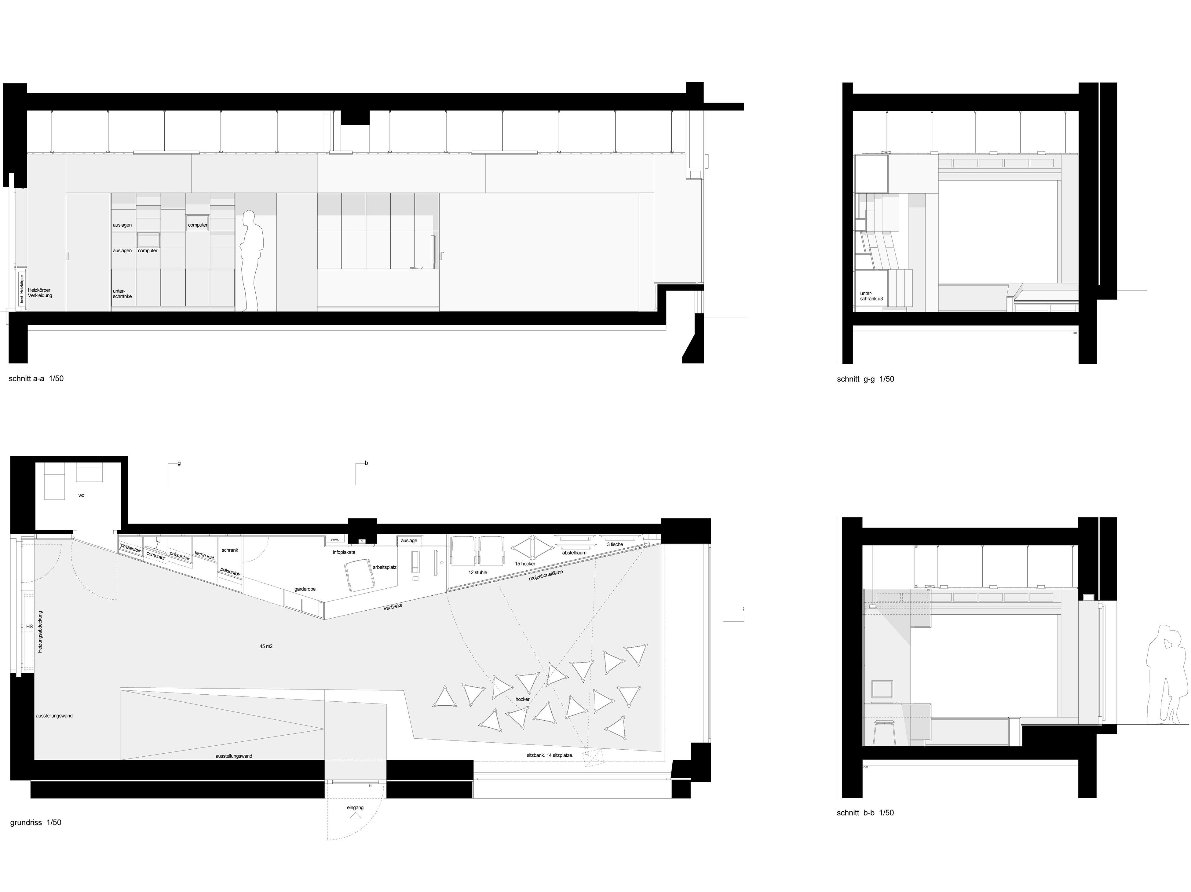 Ausführungsplanung / Möblierungsvarianten