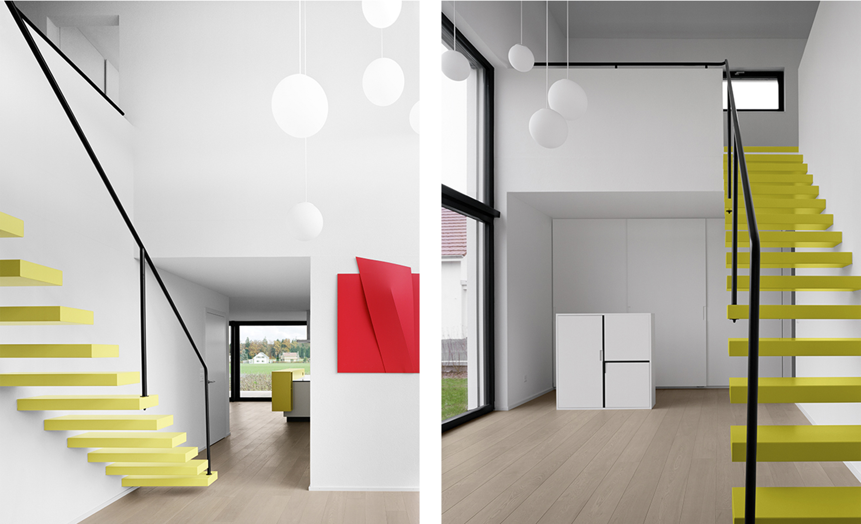 Treppe zum Obergeschoss / Eingang