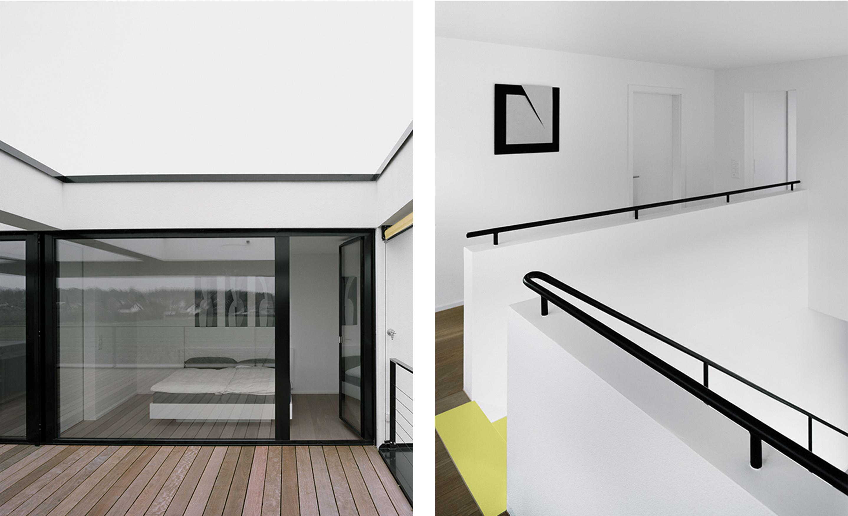 Terrasse - Schlafzimmer/ Galerie im Obergeschoss