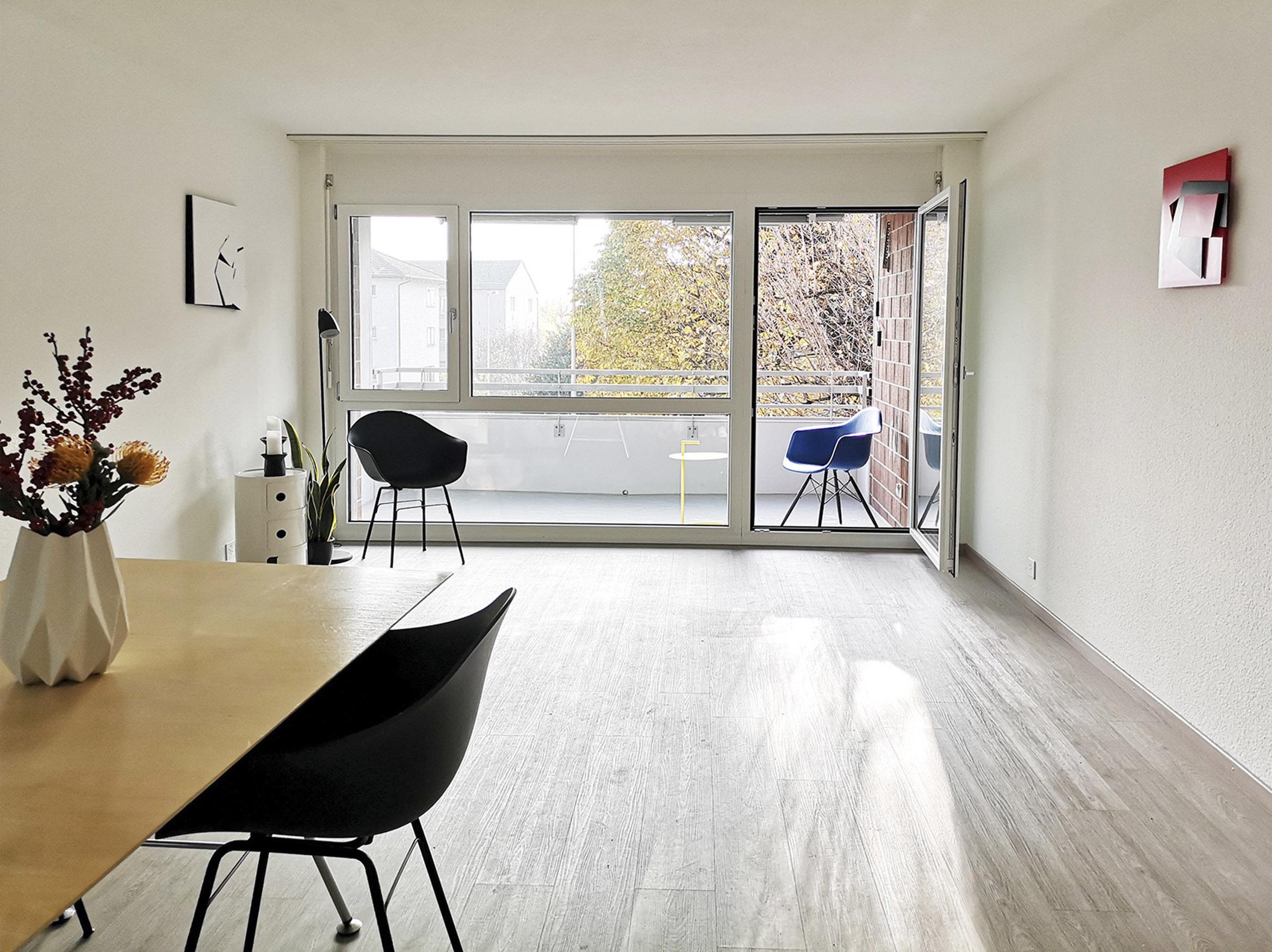 Küche-Essen-Wochen-Balkon: Durchwohnen