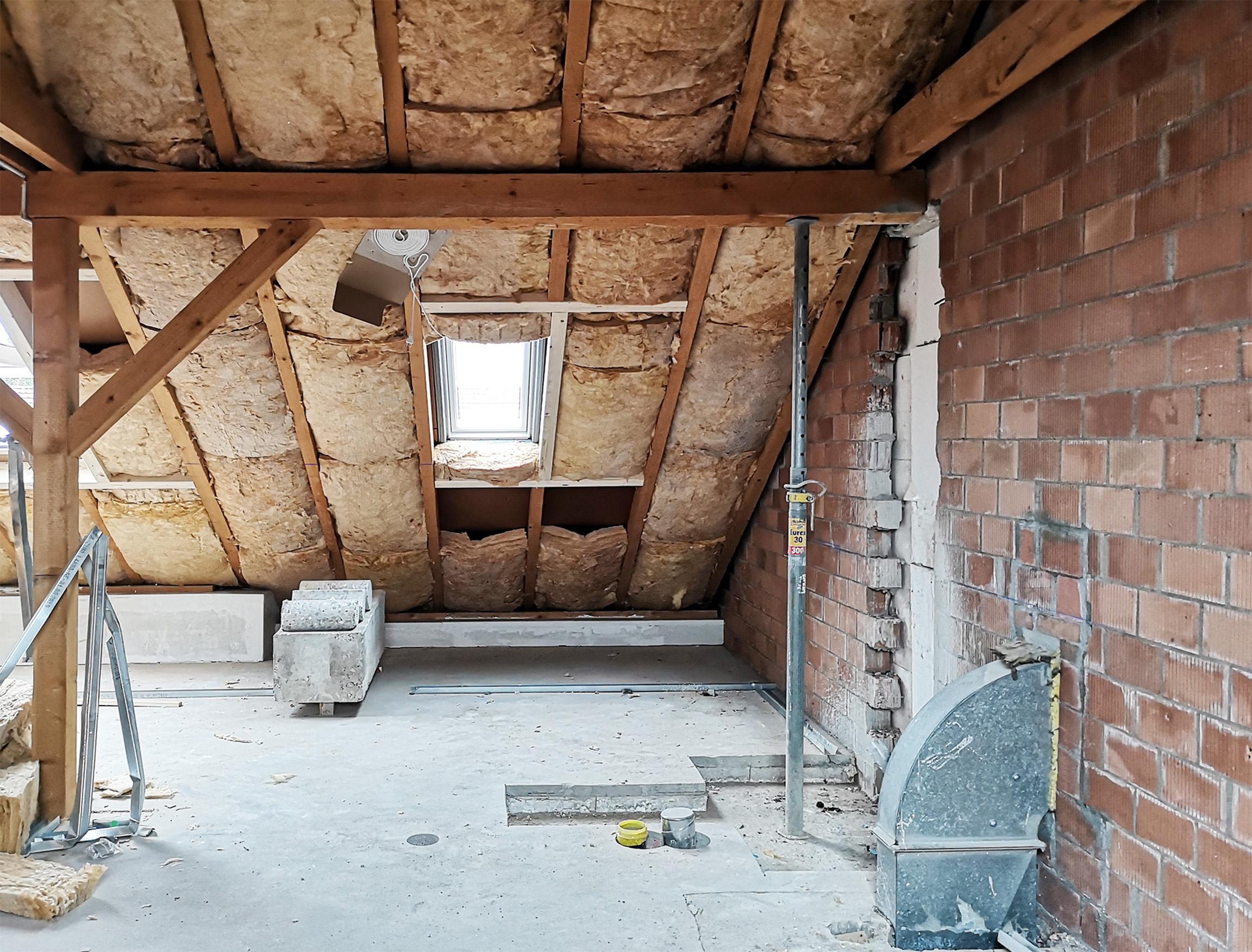 Ausbau Estrich zu 4 Wohnungen